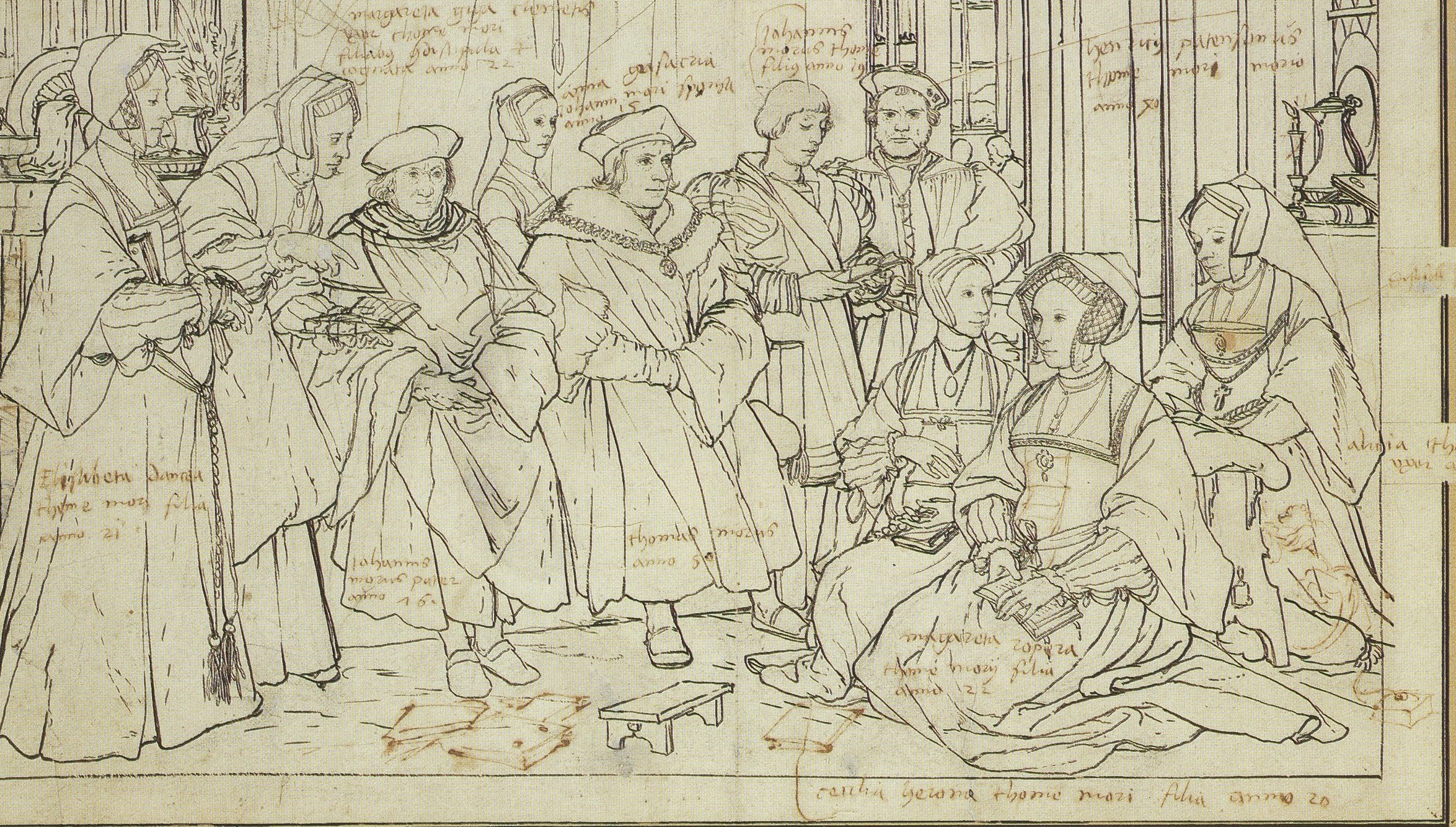The study for the Holbein portrait of the More Family